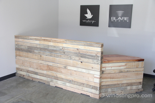 Reclaimed Reception Desk Windsong Productions