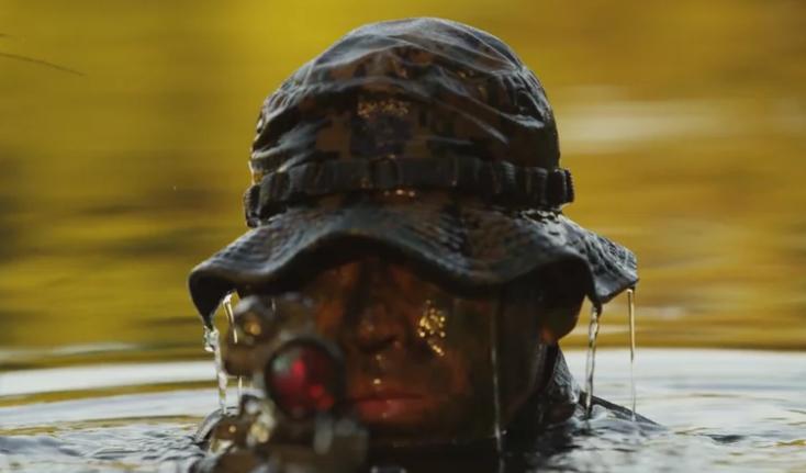 Man in swamp